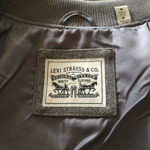 Levi's Jackets & Coats - Levi's gray wool blend rib knit bomber jacket